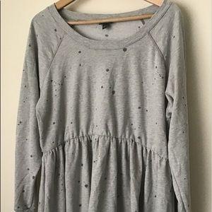 Torrid Destructed Babydoll Sweatshirt